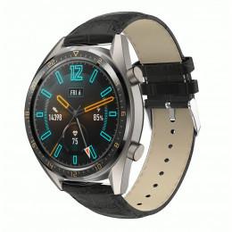 Черный крокодиловый кожаный ремешок для Huawei Watch GT / GT2 0002-02-1