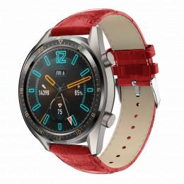 Красный крокодиловый кожаный ремешок для Huawei Watch GT / GT2 0002-02-4