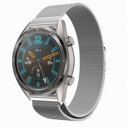 Серебряный стальной магнитный ремешок для Huawei Watch GT / GT2 0003-02-1