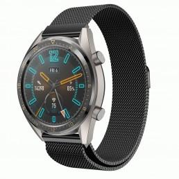 Черный стальной магнитный ремешок для Huawei Watch GT / GT2 0003-02-3
