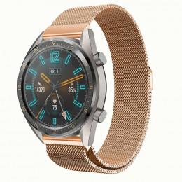 Розовое золото стальной магнитный ремешок для Huawei Watch GT / GT2 0003-02-4