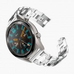 Серебряный алмазный ремешок из нержавеющей стали для Huawei Watch GT / GT2 0006-02-1
