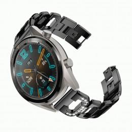 Черный алмазный ремешок из нержавеющей стали для Huawei Watch GT / GT2 0006-02-3
