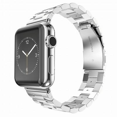 Серебряный металлический ремешок из нержавеющей стали для Apple Watch 0007-01-1