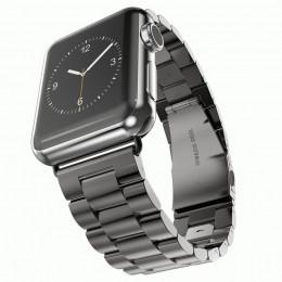 Черный металлический ремешок из нержавеющей стали для Apple Watch 0007-01-2