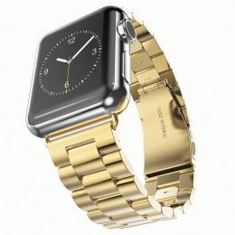 Золотой металлический ремешок из нержавеющей стали для Apple Watch 0007-01-3
