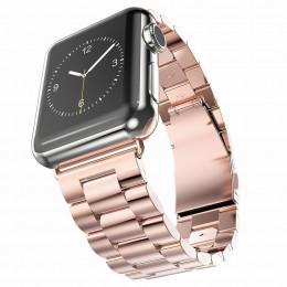 Розовый металлический ремешок из нержавеющей стали для Apple Watch 0007-01-4