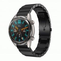 Черный блочный ремешок из нержавеющей стали для Huawei Watch GT / GT2 0008-02-4