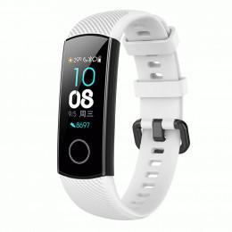 Белый силиконовый универсальный ремешок для Huawei Honor Band 4/5 0009-02-1