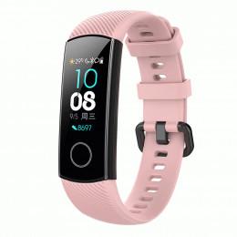 Розовый силиконовый универсальный ремешок для Huawei Honor Band 4/5 0009-02-2