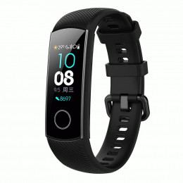 Черный силиконовый универсальный ремешок для Huawei Honor 4 0009-02-3
