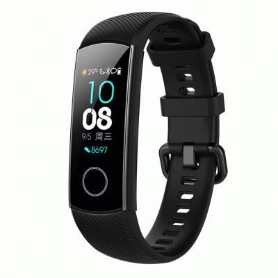 Черный силиконовый универсальный ремешок для Huawei Honor Band 4/5 0009-02-3