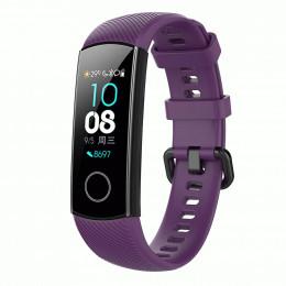 Фиолетовый силиконовый универсальный ремешок для Huawei Honor Band 4/5 0009-02-4