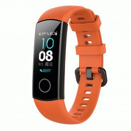 Оранжевый силиконовый универсальный ремешок для Huawei Honor Band 4/5 0009-02-5