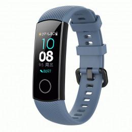 Синий силиконовый универсальный ремешок для Huawei Honor Band 4/5 0009-02-6