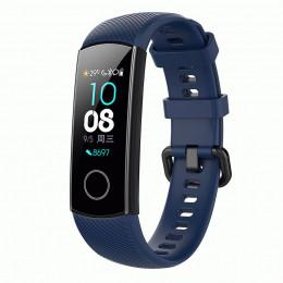 Темно-синий силиконовый универсальный ремешок для Huawei Honor Band 4/5 0009-02-9