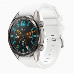 Белый силиконовый спортивный ремешок для Huawei Watch GT / GT2 0010-02-1
