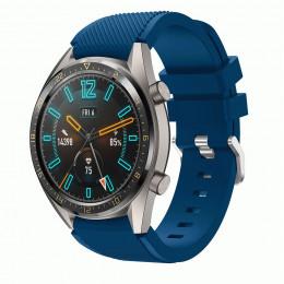 Темно-синий силиконовый спортивный ремешок для Huawei Watch GT 0010-02-15