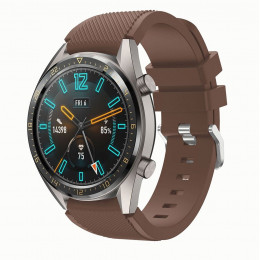 Кофейный силиконовый спортивный ремешок для Huawei Watch GT / GT2 0010-02-17