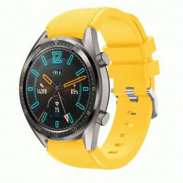 Желтый силиконовый спортивный ремешок для Huawei Watch GT / GT2 0010-02-2