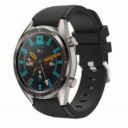 Черный силиконовый спортивный ремешок для Huawei Watch GT / GT2 0010-02-3