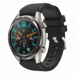 Черный силиконовый спортивный ремешок для Huawei Watch GT 0010-02-3