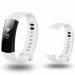 Белый спортивный силиконовый ремешок для Huawei Honor Band 3 0013-02-1