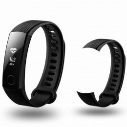Черный спортивный силиконовый ремешок для Huawei Honor Band 3 0013-02-2