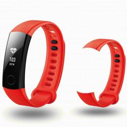 Красный спортивный силиконовый ремешок для Huawei Honor Band 3 0013-02-3