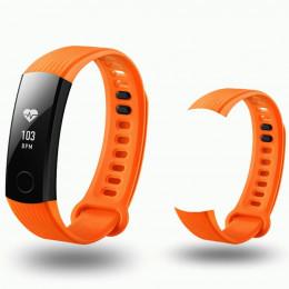 Оранжевый спортивный силиконовый ремешок для Huawei Honor Band 3 0013-02-4