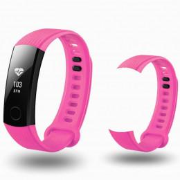 Розовый спортивный силиконовый ремешок для Huawei Honor Band 3 0013-02-6