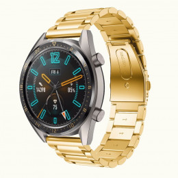 Золотой металлический ремешок из нержавеющей стали для Huawei Watch GT / GT2 0015-02-2