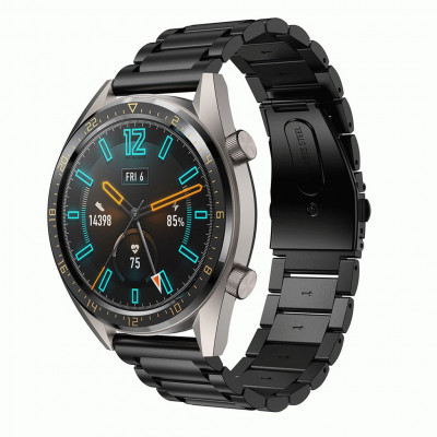 Черный металлический ремешок из нержавеющей стали для Huawei Watch GT / GT2 0015-02-3
