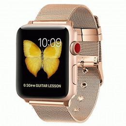 Золотой тонкий металлический ремешок для Apple Watch 0016-01-2