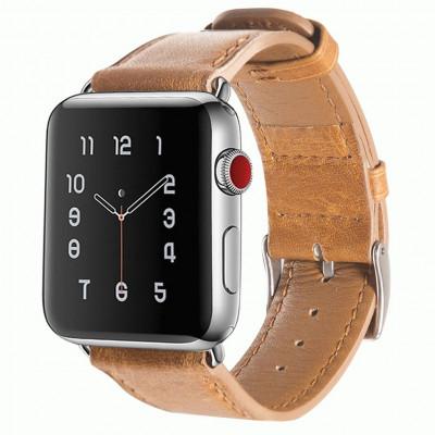 Коричневый кожаный ремешок для Apple Watch 0017-01-2