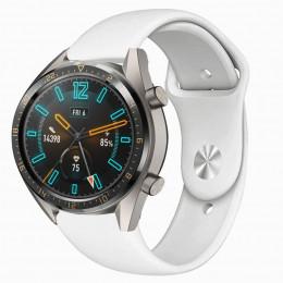 Белый силиконовый монохромный ремешок для Huawei Watch GT / GT2 0017-02-1