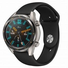 Черный силиконовый монохромный ремешок для Huawei Watch GT / GT2 0017-02-2
