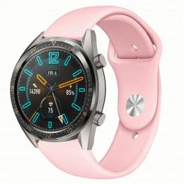 Розовый силиконовый монохромный ремешок для Huawei Watch GT / GT2 0017-02-5