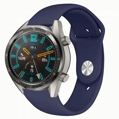 Синий силиконовый монохромный ремешок для Huawei Watch GT / GT2 0017-02-6 - купить в интернет-магазине Handband.ru