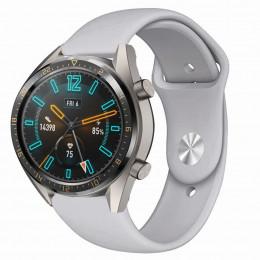 Серый силиконовый монохромный ремешок для Huawei Watch GT / GT2 0017-02-7