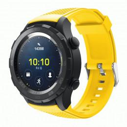 Желтый силиконовый спортивный ремешок для Huawei Watch 2 0020-02-1