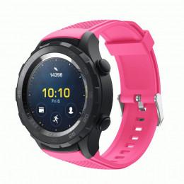 Розовый силиконовый спортивный ремешок для Huawei Watch 2 0020-02-5