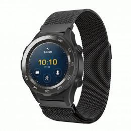 Черный миланский ремешок из нержавеющей стали для Huawei Watch 2 0021-02-1