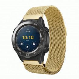 Золотой миланский ремешок из нержавеющей стали для Huawei Watch 2 0021-02-2