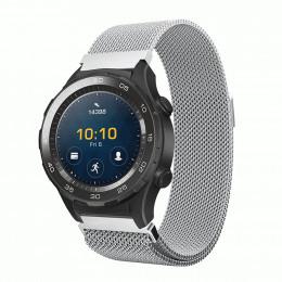 Серебряный миланский ремешок из нержавеющей стали для Huawei Watch 2 0021-02-3