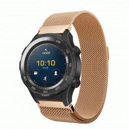 Розовое золото миланский ремешок из нержавеющей стали для Huawei Watch 2 0021-02-4