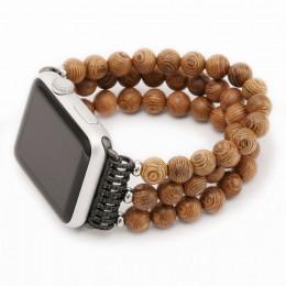 Ремешок из деревянных бусин для Apple Watch 0030-01-1