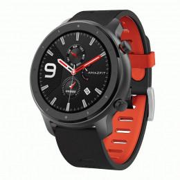 Черно-красный двухцветный спортивный силиконовый ремешок для Xiaomi Amazfit GTR 47мм 0032-03-1