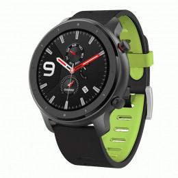 Черно-зеленый двухцветный спортивный силиконовый ремешок для Xiaomi Amazfit GTR 47мм 0032-03-4