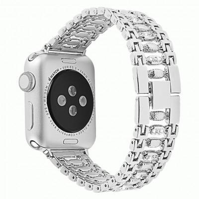 Серебряный металлический ремешок для Apple Watch 0034-01-2